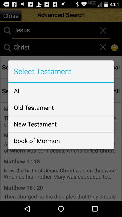 The Bible and Book of Mormon- screenshot