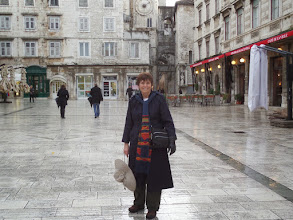 Photo: Joy is in the main square of the old town.