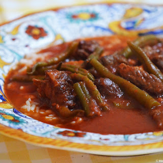 Lebanese Green Bean Stew (yahneh or lubieh) from the expert
