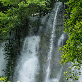 Bad Urach waterfall by Tonia Hernandez - Landscapes Waterscapes ( bad urach, waterfall, germany, scenery, travel )