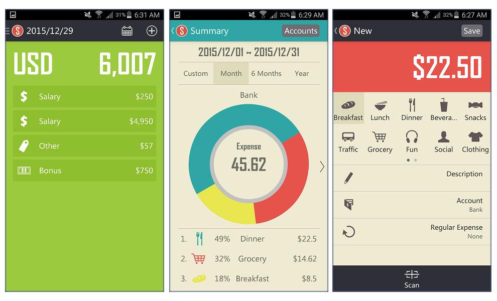 Spendee, Dollarbird, Expensify, Ahorro, Wallet, finansial, keuangan, apps, aplikasi keuangan
