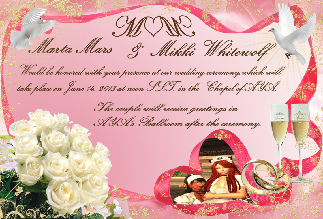 Marta & Mikki wedding invitation