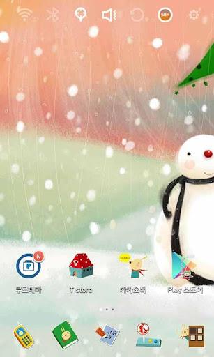 Snowman Launcher Theme
