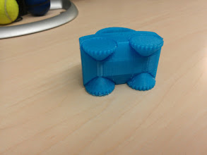 Photo: Underside: wheels and axles printed in place.