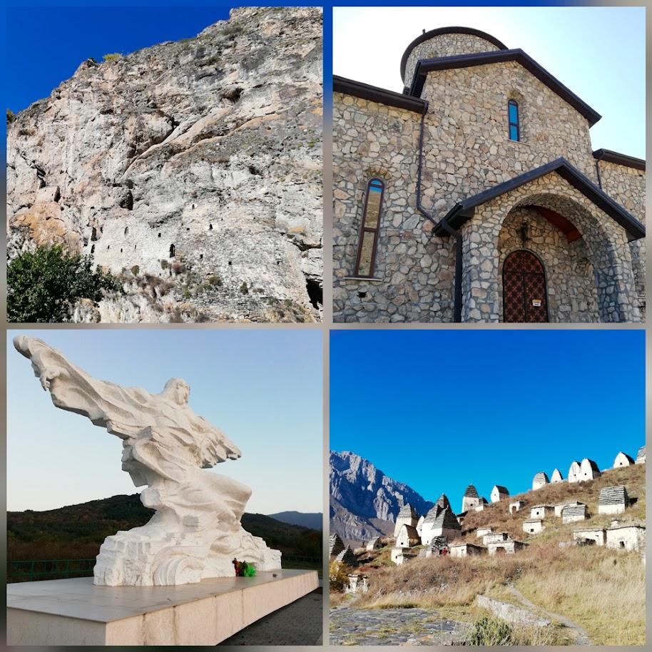 Даргавс Дзивгис Аланский монастырь Кармадон ледник Колка.