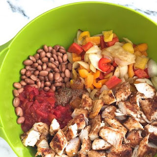 Healthy Chicken Fajita Casserole.