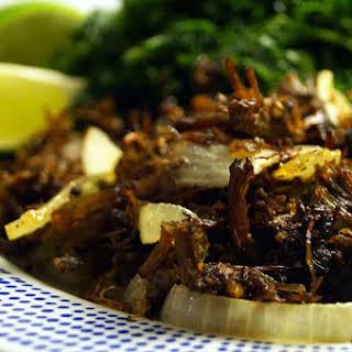 Slow Cooker Cuban Vaca Frita.