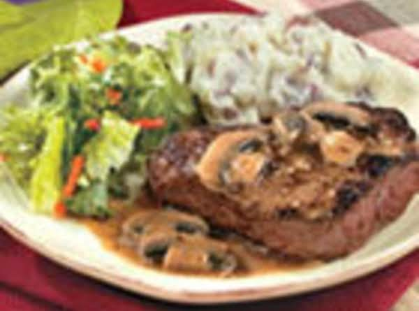 Pan Seared Steak With Mushroom Sauce