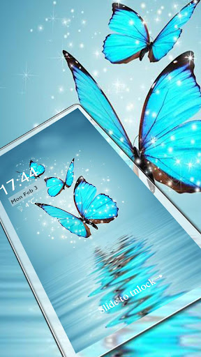 Butterfly blue gleam theme 1.1.3 screenshots 1