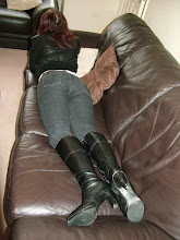 Photo: British Model Ruby in Jeans in Boots
