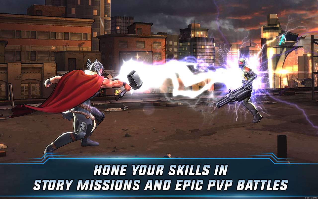 Marvel: Avengers Alliance 2- หน้าจอ