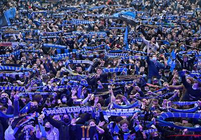 Des supporters brugeois étaient présents lors du derby Lens-Lille