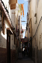 Photo: Typical alleyway in a Moroccan city.