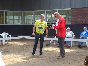 Photo: CW-geitenkeuring in Heeten Kampioen van het Oosten. Geitenfokvereniging Overijssel en geitenfokvereniging de Dageraad. Keurmeesters T. v/d Meer en H. Hoekstra.