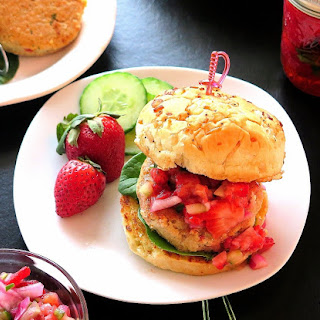 Tuna Burger with Pickled Strawberry Relish Recipe