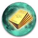 Lunar Calendar. Money icon