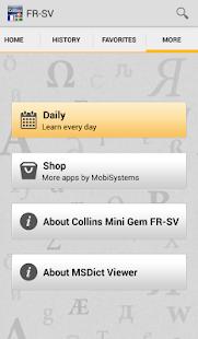 French<>Swedish Dictionar - screenshot thumbnail