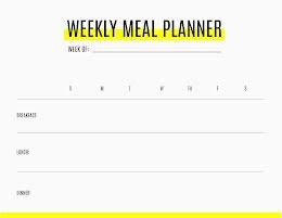 Weekly Meals Highlight - Weekly Schedule item