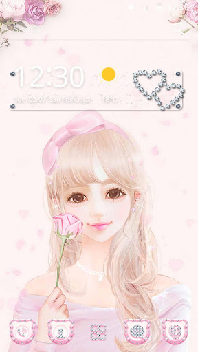 Cute Pink Girl Theme Rose Gold Apps On Google Play