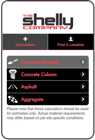 The Shelly Company Calculator- screenshot