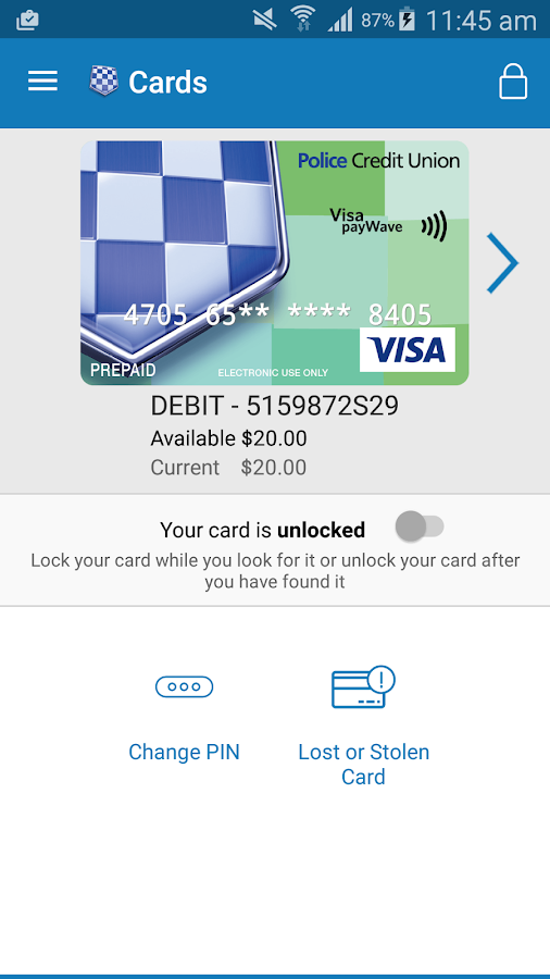 Money Mate–Police Credit Union- screenshot