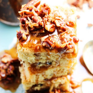 Toasted Coconut Pecan Caramel Sauce & Girl Scouts® Caramel & Coconut Blondies