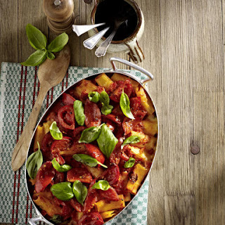 Baked Pasta with Fennel Sausage, Tomato and Mozzarella