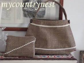 Photo: borsa modello Tilda grande in lana con mini pochette coordinata