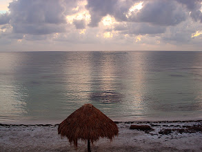 Photo: sunrise over Majahual