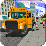 School Bus Simulator Game Modern City Coach Driver Icon