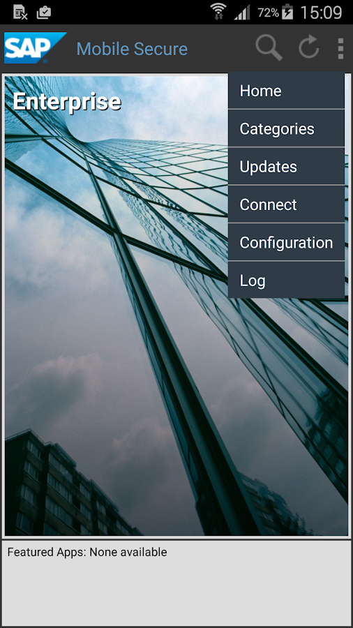 SAP Mobile Secure for Android- screenshot