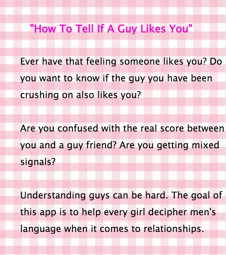 Signs that a guy really likes you