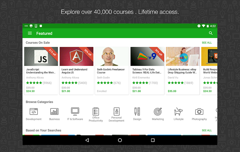 Screenshot 13 for Udemy's Android app'