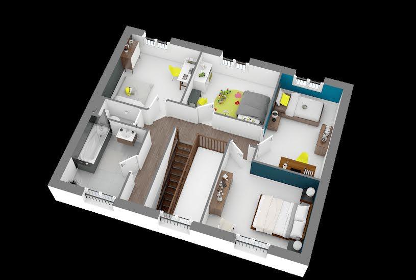 Vente Terrain + Maison - Terrain : 100m² - Maison : 123m² à Guernes (78520)
