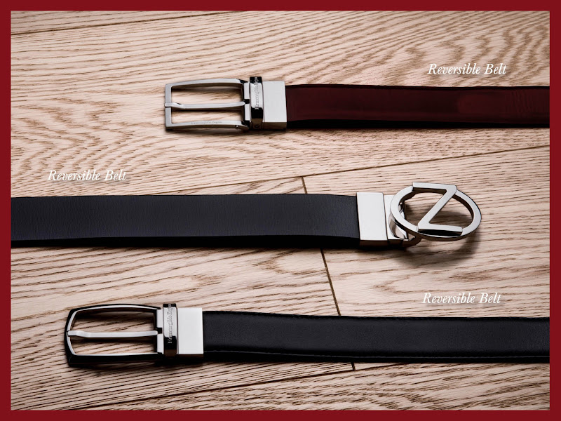 Photo: Ermenegildo Zegna - Holiday Season Selection – Timeless accessories for a classy style: reversible belts in black and brown calf leather. Shop online at http://bit.ly/X47GwN