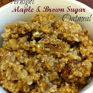 Overnight Maple and Brown Sugar Oatmeal