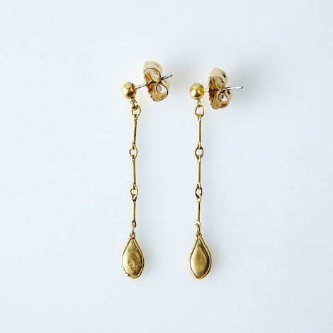 Single Squash Long Earrings