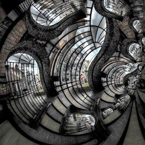 Doors by Simon Eastop - Abstract Patterns ( doors, droste, wales, castle, pembroke, , Fractal, computer generated fractal image )