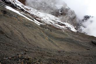 Photo: Glacier remnant near Arrow Glacier Camp