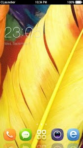 Yellow Feather Theme CLauncher screenshot 0