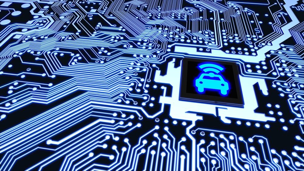 Chips de automóveis controlam funções básicas e de entretenimento. (Fonte: Shutterstock/BeeBright/Reprodução)