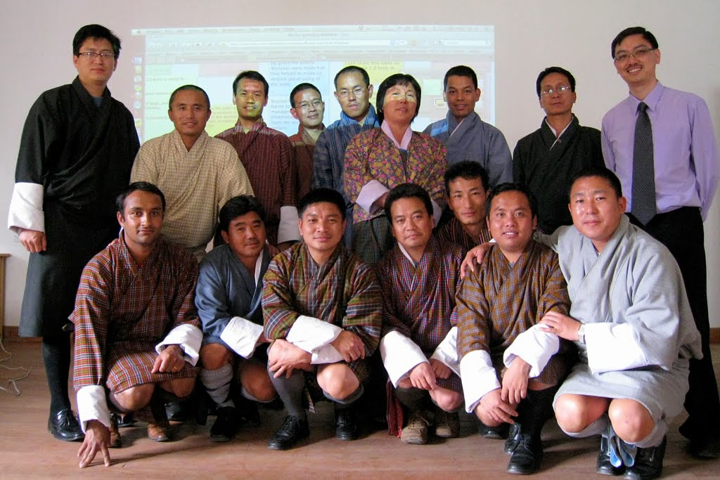 With Bhutanese educators.