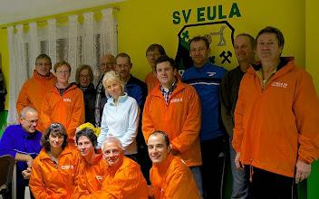 Photo: Ein motiviertes Team der Laufgruppe Run & Fun des SV Eula - wenige Tage vor dem 8. Adventslauf