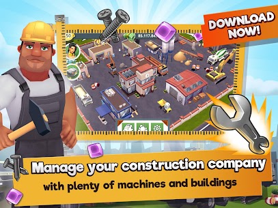Construction Hero MOD APK 1.0.542 [Unlimited Diamonds + Cash] 5