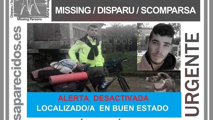 El joven fue localizado en buen estado en Huelva.