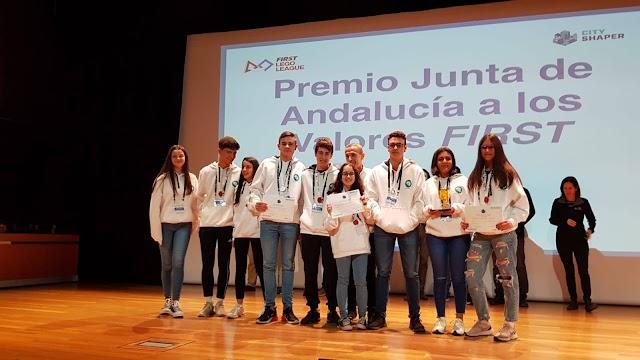 El Colegio del Milagro, 'RoboSapiens', lograron el Premio Junta de Andalucía a los Valores FIRST