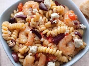 Greek Style Shrimp and Pasta Salad