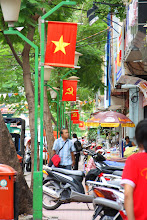 Photo: Year 2 Day 28 - Flags in the Street in Saigon
