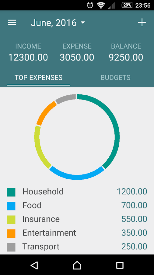 Budget- screenshot