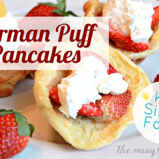 Mini German Puff Pancakes
